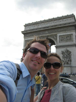 Us and the Arc, you know the big one, in Paris