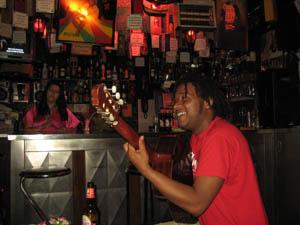Johnny in the Reggae bar
