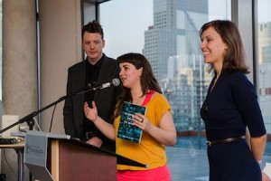 Me, CP Board Member Ines Lopes, and Svetla speak about the new CP book.